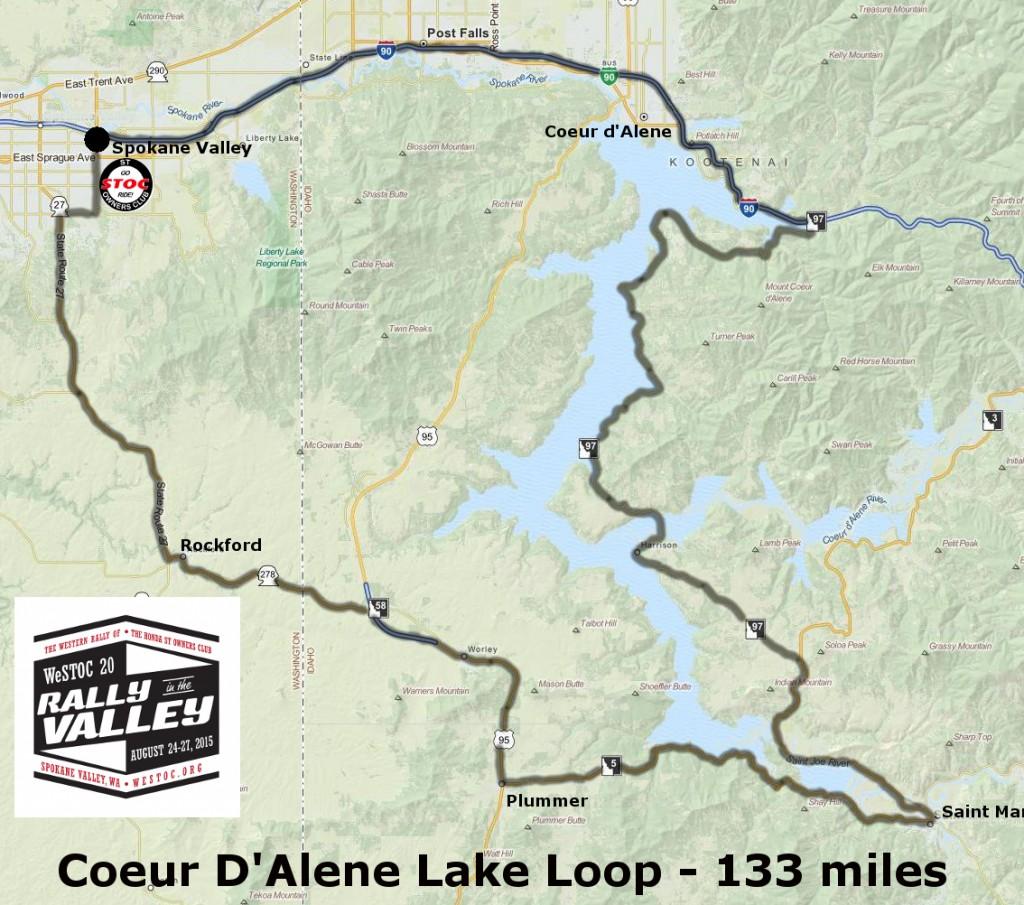 133 miles - Coeur D'Alene Lake Loop
