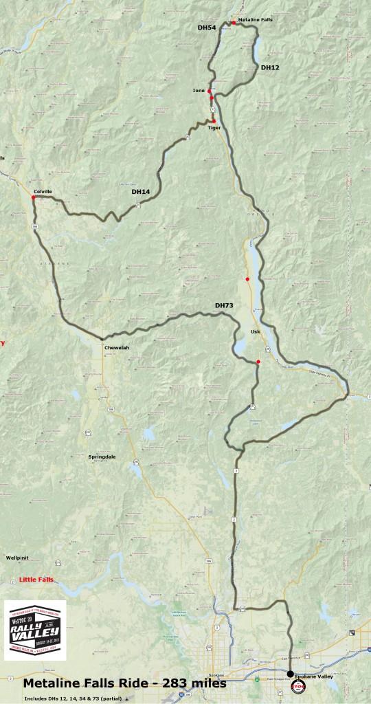 283 miles - Metaline Falls Ride