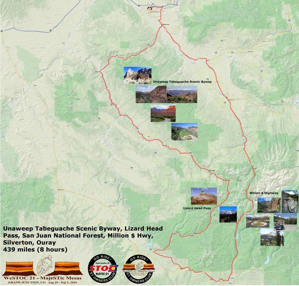 WeSTOC21 439 Mile Ride Map 128x64